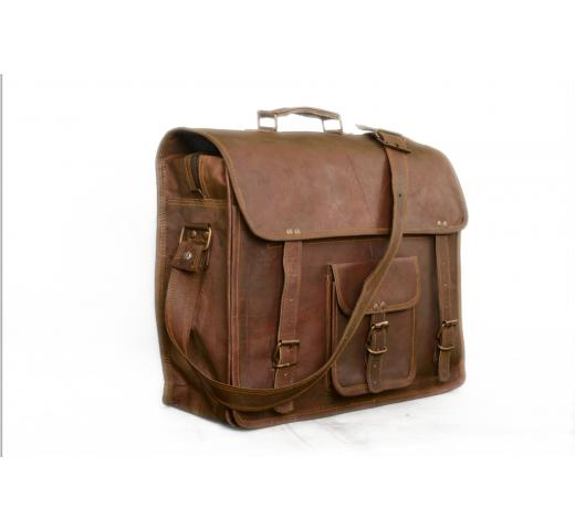 Shaista Handicraft Messenger Office Genuine Leather Laptop Briefcase Messenger Satchel Bag