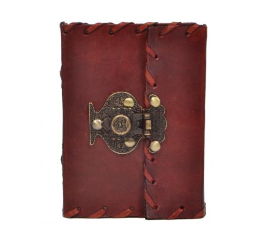 Design Antique Lock Diary Handmade Notebook
