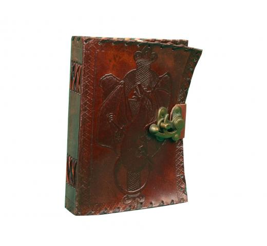 Dragon  Celtic Leather Journal Sketchbook Blank Book Of Shadows Diary Pure Handicraft Leather Book
