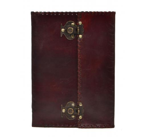 Leather journal Writing Notebook New Antique Lock Handmade Leather Journal