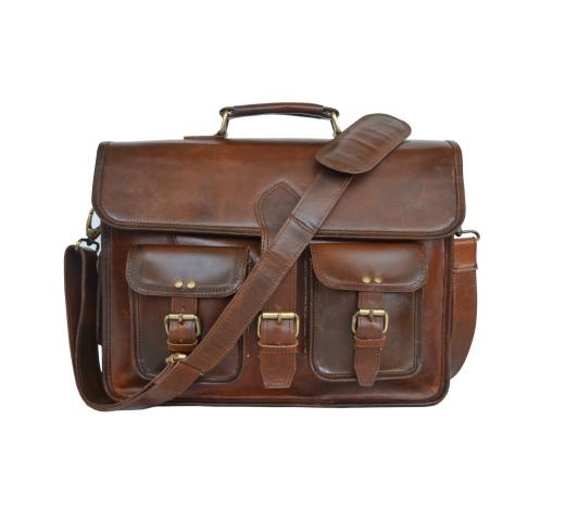 Crazy Horse Leather Briefcase bag