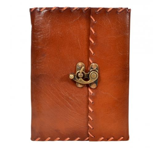 New Handmade Leather Journal Diary Brass Lock Antique Journal Diary & Sketchbook
