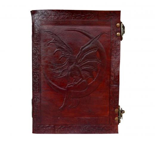 Leather Fairy Moon Book of Shadows Latch Spells Journal Pentacle Wicca Celtic