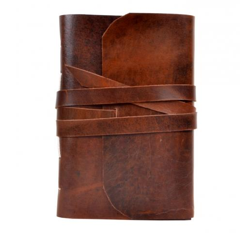 Genuine Handmade Leather Journal Wholesaler Antique Crazy Horse Leather Diary