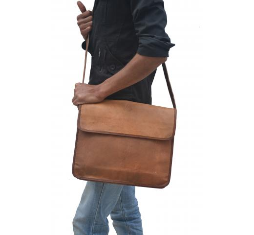 Vintage Crafts Leather Laptop Bag