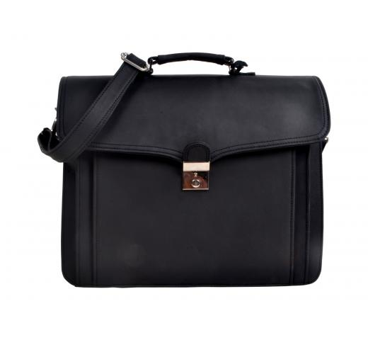Men's Vintage Buffalo Leather Shoulder Messenger Bag Briefcase Laptop Bags