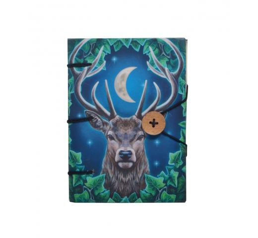Hardcover Travel Diary with Beautiful Twelve singh buck Hard Paper Didital Print, Small Sized, Handmade Notebook Writing Journal for Unisex | Ruled Premium Paper - 120 Pages