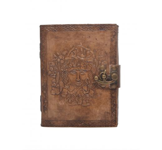 New Handmade Antique Queen Embossed Leather Journal Notebook New Charcoal Color Blank Pages Journal