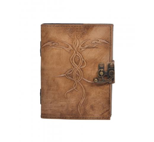Handmade Vintage New Antique Design Embossed Leather Journal Notebook Charcoal Color Journals 7x5 Inches Notebook