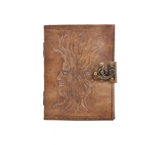 Handmade Antique Design Root Of Tree Embossed Leather Journal Notebook Charcoal Color Journals Notebook & Sketchbook