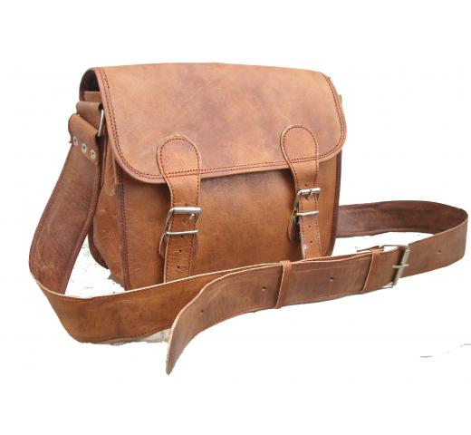 Handmade Vintage Genuine Goat Leather Bag for Women