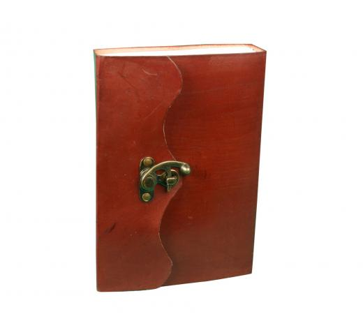 Blank Embossed Leather Journal with Combination Lock Notebook Handmade Dairy Note Book Journal