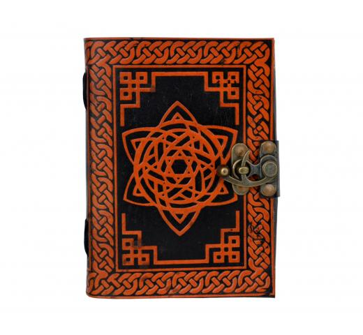 Vinatge Retro Sense Pentagramm Vintage Buffalo leather journal NEW PREMIUM PAPER Cotton paper Notebook Handmade In India