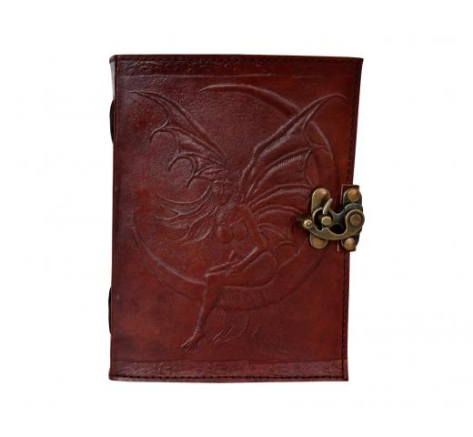 Leather Fairy Moon Book of Shadows Latch Spells Journal Pentacle Wicca Celtic New
