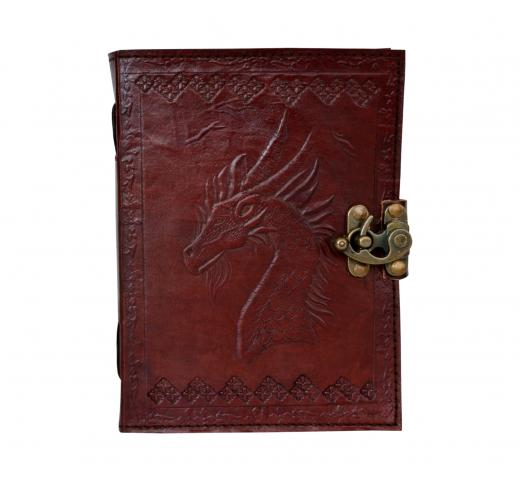Handmade Paper Engraved Blank Leather Bound Journal Horse Leather Diary