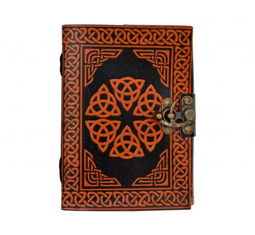 Celtic Design Shadow Leather Journal Note Book Travel Journal