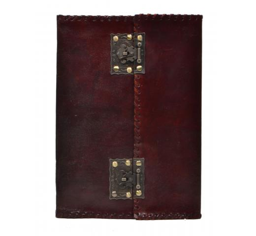 New Antique Brass Lock Journal Handmade Diary Leather Notebook