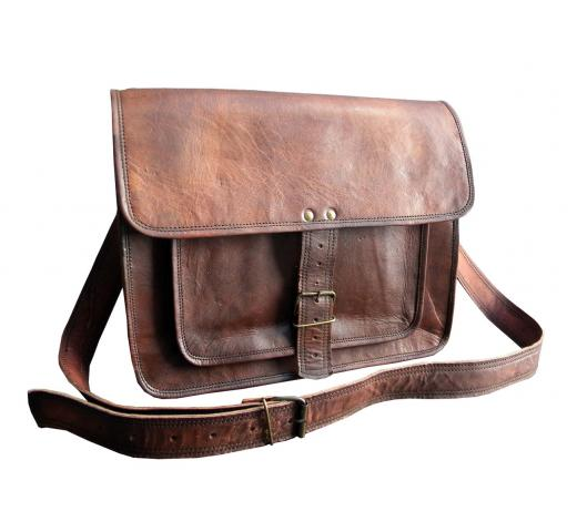 Handmade Goat Leather Messenger bag
